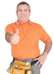 Thumbs up from an irrigation contractor